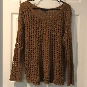 Brown crocheted sweater